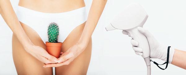 Frau mit Kaktus